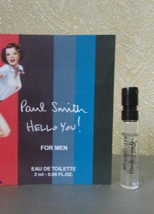 Туалетная вода paul smith hello you! paul smith остаток 1,9 мл.
