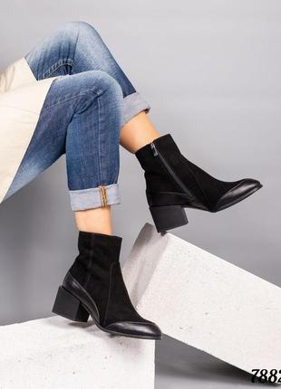Элитная коллекция! демисезонные ботинки натуральная итальянская замша/кожа код 7882