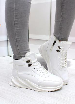 """Ботинки """"""""push"""""""" белые экокожа"""