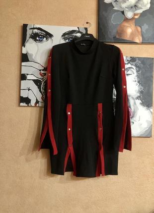 Чёрное нарядное платье с разрезами