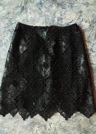 Фирменная кружевная юбка