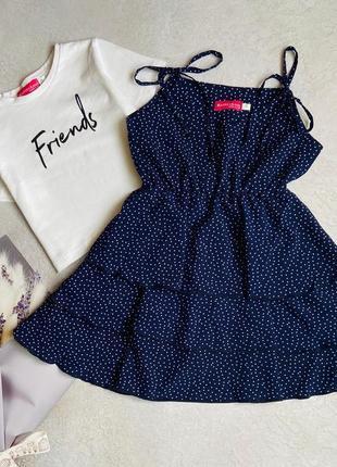 Платье с топом 134 размер