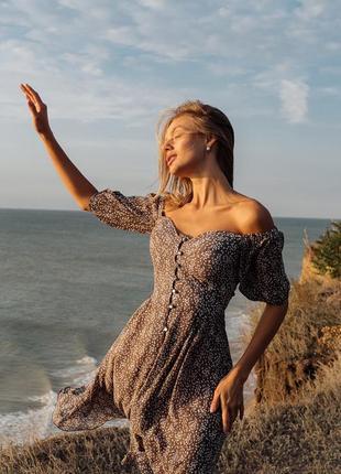 """Воздушное лёгкое платье """"мелисса"""" из струящегося шифона"""