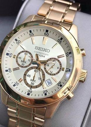 - 35% | мужские часы хронограф seiko chronograph 43 мм sks610 (оригинальные, с биркой)