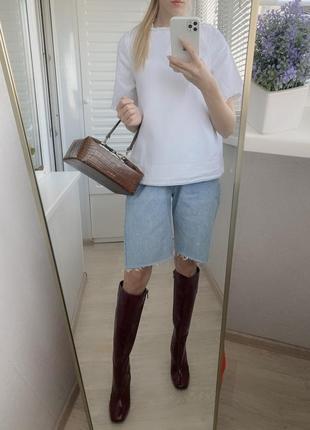 100% хлопок waven рубашка из котона белая с открытой спиной xs джинс