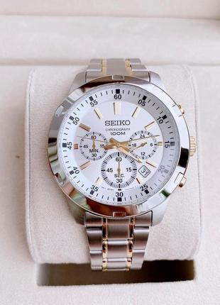 - 35% | мужские часы хронограф seiko chronograph 43 мм sks607 (оригинальные, с биркой)