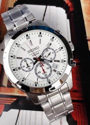 - 40% | мужские часы хронограф seiko chronograph 43 мм sks601 (оригинальные, с биркой)