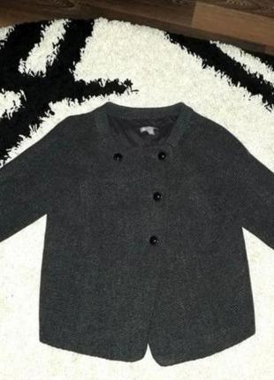Пальто натуральная шерсть бомбер пиджак