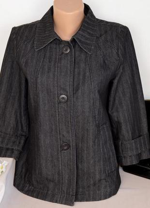 Брендовый пиджак жакет с карманами lakeland коттон