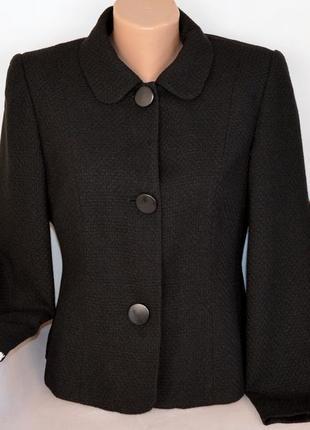 Брендовое черное демисезонное пальто полупальто bhs литва вискоза