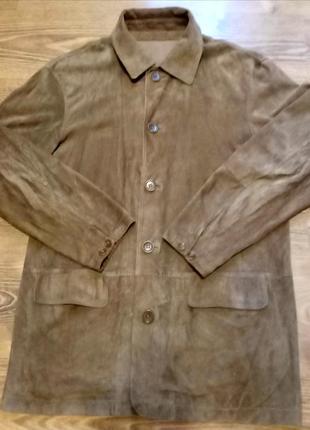 Винтажная замшевая куртка, пиджак hugo boss men original italia