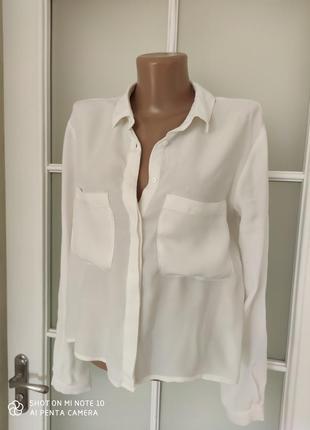 Рубашка короткая белая