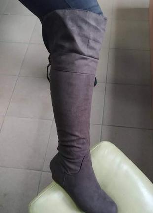 Ботфорти чоботи сапоги на танкетці cushion walk