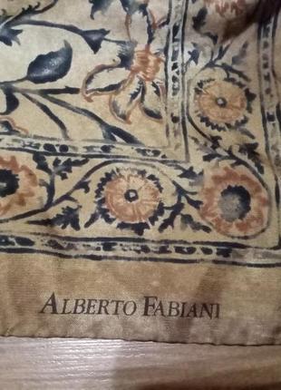 Винтажный платок alberto fabiani original italia