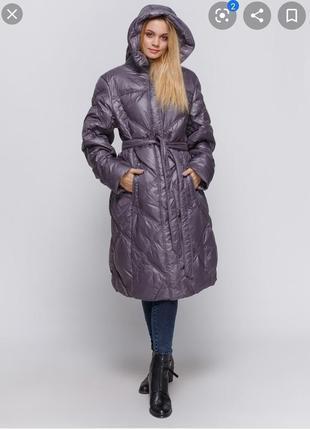 Легкое и теплое пальтишко зимнее куртка дутик пуховик