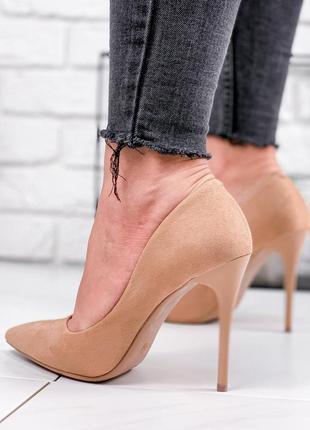 Туфли женские fashion бежевые