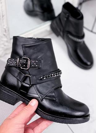 Ботинки женские savin черные деми