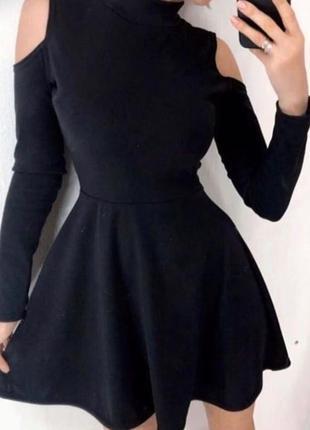 Приталенное платье мини с открытыми плечами.красивые цвета.размеры до 70
