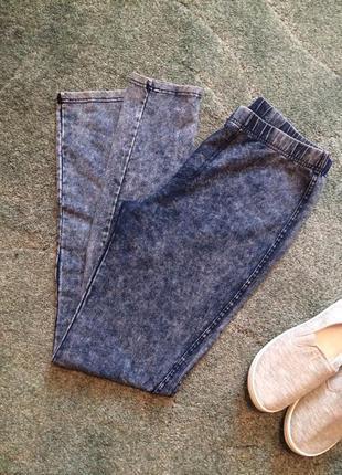 Джинсові стрейчеві штани лосіни new look