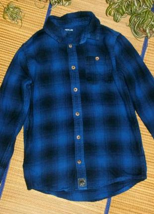 Рубашка теплая для мальчика 5-6лет