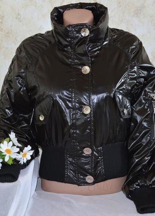 Брендовая пуховая демисезонная короткая куртка без капюшона baci.-j88 classic fashion