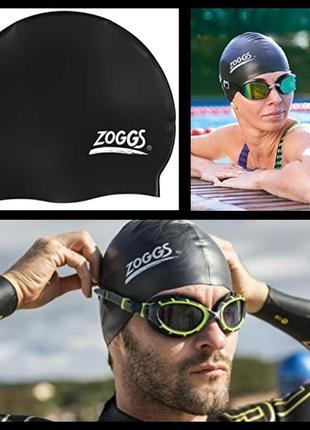 Шапочка для плавания zoggs silicone cap универсальный черный