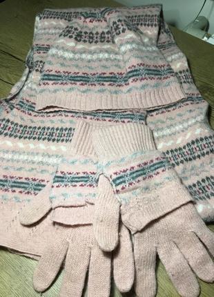 Комплект шапка+ шарф+ перчатки colin's оригинал