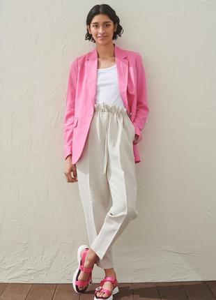 Очень красивые льняные брюки с высокой посадкой h&m новые с бирками