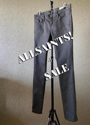 Allsaints джинсы с напылением скинни средняя посадка