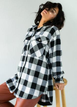 Красива стильна рубашка , сорочка в клітинку