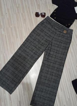Крутые теплые штаны палаццо zara
