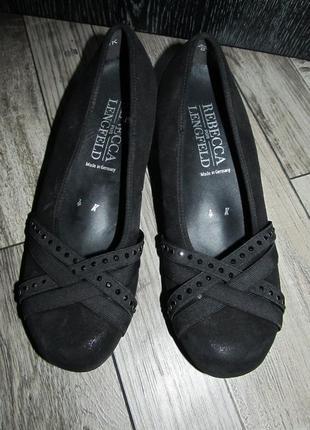 Кожаные туфли rebecca von lengfeld р. 37-23,5см