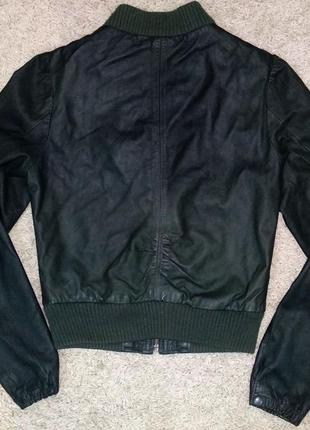 Кожа куртка h&m женская натуральная