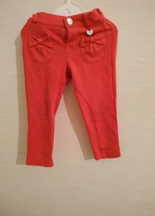 Штаны брюки mayoral красные банты 86 см