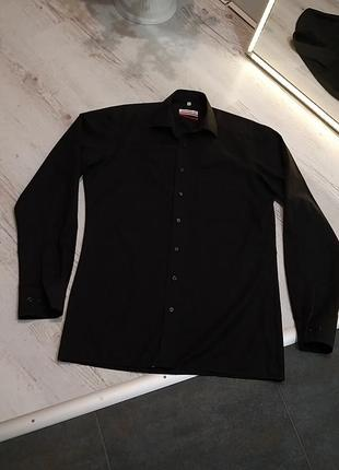 Сорочка чоловіча чорна, рубашка мужская чёрная