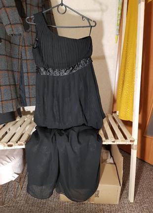 Платье вечернее чёрное