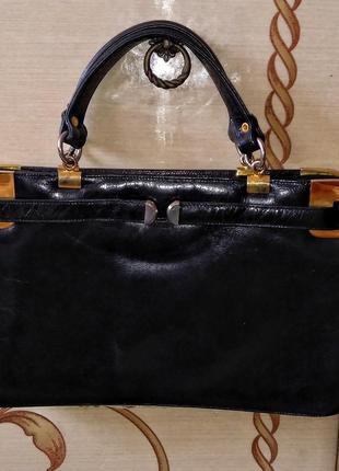 Bally винтажная сумка ридикюль натуральная кожа