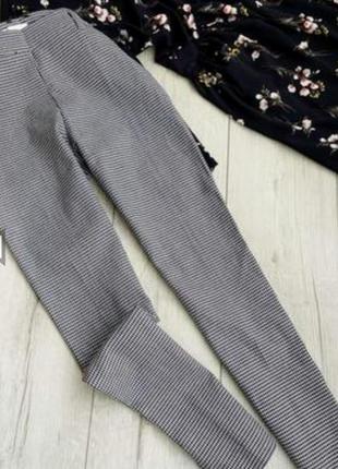 Стильные узкие брюки в гусиную лапку!
