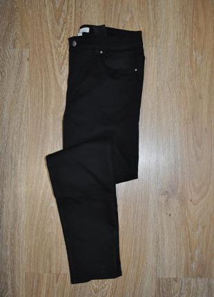 Базовые черные скинни, джинсы с высокой посадкой от h&m