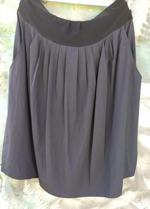 Ассиметричная юбка в стиле бохо 65%вискоза батал