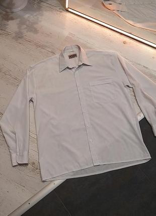 Сорочка чоловіча біла класична, мужская рубашка белая классическая