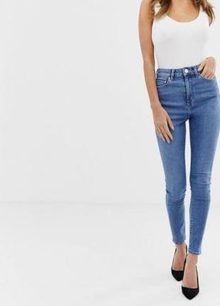 Базовые скинни, джинсы с высокой посадкой от asos