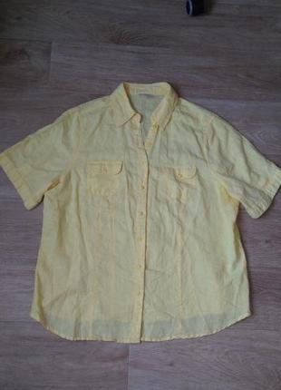 Натуральна футболка теніска з льону та котону