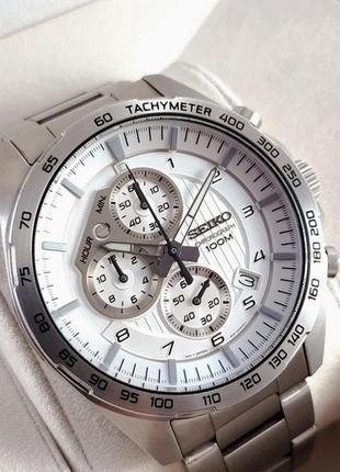 - 35% | мужские часы хронограф seiko chronograph 47 мм ssb317 (оригинальные, с биркой)