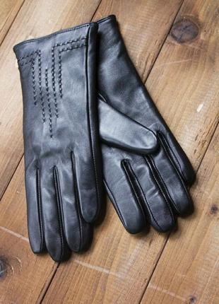 Кожаные женские перчатки 948 сенсорнные. все размеры