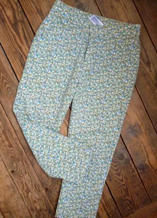 Укороченные брюки marks&spencer штаны размер uk12/ eur38-40/ m-l состояние идеальное