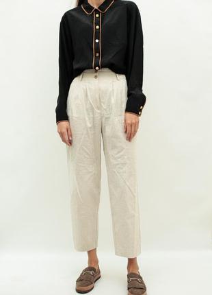Винтажная шелковая блуза chanel