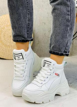 Стильные ботиночки белые
