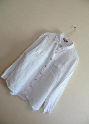 Льняная рубашка с кружевом carla conti (р.m)