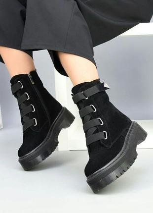 Рр 36-41 осень(зима) натуральный замш ботинки